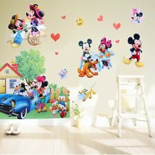 Grand Mickey Minnie Mouse Cars Autocollant Mural Vinyle Art Mural Décalques