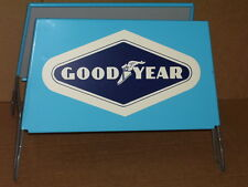 GOODYEAR Tire Holder - Four Piece - TWO SIGNS + TWO SETS OF LEGS -- UNUSUAL ITEM