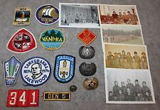 1960-70'S BSA BOY SCOUT PATCHES NECK SLIDES W/PHOTOS TROOP 341 MANHATTAN ESTONIA