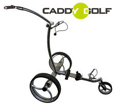 Acero inoxidable caddy-golf pentera Elektro golf trolley litio Timer bergabbremse