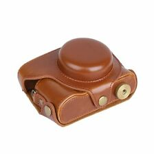 PU Leather Camera Case Bag For Panasonic LUMIX LX100, DMC-LX100 Camera-Brown