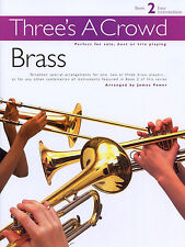 Threes A Crowd Brass Trios Trumpet Learn to Play Sheet Music Book 2