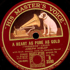 "JOSEPH HISLOP -TENOR- ""Frederica"" A Heart as pure as Gold / Maiden 78rpm S8862"