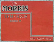 MORRIS TEN FOUR SERIES M Car Sales Brochure For 1946