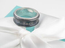 TIFFANY & CO SILVER TITANIUM 1837 RING SIZE 9 BOX INCLUDED