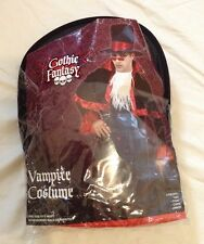 New Gothic Dracula Victorian Vampire Halloween Costume One Size Fits Most