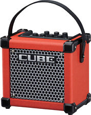 New Roland Micro Cube GX Red 3W 1 x 5 Battery Powered Guitar Amplifier Speaker