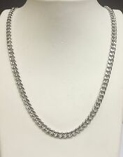 "14k White Gold Miami Cuban Curb Link 24"" 5MM 23 Grams Chain Necklace  WHMC150)"