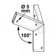 Plug in connector for Wooden slats Roof angle E 105°