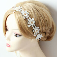 Hair Band Jewelry Vintage Wedding Lace Crown Flower Pearl Forehead Headband