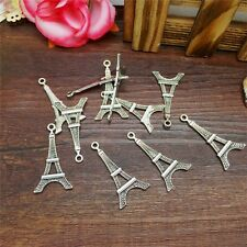 Hot Charm 8pcs Eiffel Tower Tibet Silver Pendant Fit for Bracelet Necklace JPG24