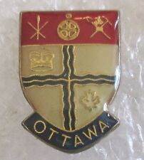 Vintage City of Ottawa Coat of Arms Travel Souvenir Collector Pin-Ontario Canada