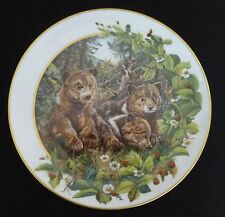 FRANKLIN MINT Bear Cubs Collector Plate by Conrad Franz