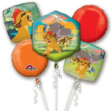 Disney The Lion Guard Birthday Party Favor Supplies 5CT Foil Balloons Bouquet