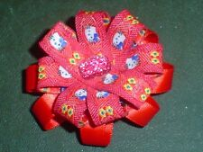Pretty ROSSO HELLO KITTY Acrilico GEM centro Barrette
