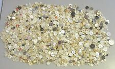 antique 1200+ ALL MOTHER OF PEARL BUTTON mop shell sewing crafts vtg 5lb LOT