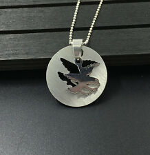Fashion Falcons Womens Men's Silver Stainless Steel Titanium Pendant Necklace !!