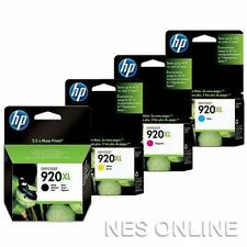 HP 920XL Set of 4x C/M/Y/K High Yield Ink Officejet 6000/6500A/7000/7500A+ 920
