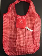 New IKEA Foldable Pocket Reusable Eco Shopping Tote Bag Red And White