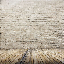Vinyl Studio Brick Wall Floor Backdrop Photography Photo Background 3X5FT ZZ44
