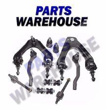 10 Suspension Parts Upper Lower Ball Joint Control Arm Tie Rod Sway Bar Link New