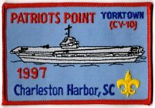 BSA Insignia USS YORKTOWN Charleston Harbor, SC Participation Patch 1997 300334