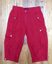 ** DOLCE & GABBANA ** Fire Engine Red Cargo Capris Cropped Preppy Pants Size 42