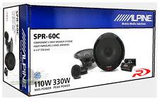 """ALPINE SPR-60C 6.5"""" COMPONENT CAR SPEAKERS SYSTEM NEW (PAIR) SPR60C 6 1/2"""""""