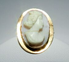 BEAUTIFUL 10K SOLID GOLD CAMEO PIN / BROOCH / PENDANT PLEASE READ