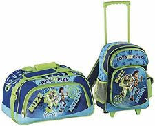 """Heys Toy Story """"Toys at Play"""" Woody and Buzz 2-piece Rolling Backpack & Duffle"""
