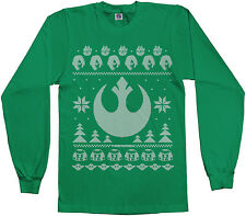 Light Side of Force Star Wars Ugly Christmas Sweater Youth Long Sleeve T-shirt