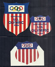 1968 Mexico City US Olympic Contributor Fund Decal, Hang tag & Diecut Card Lot*