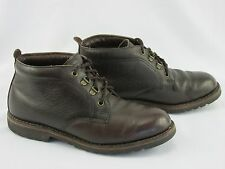 H.S.Trask Vintage Chukka Brown Butter Soft Lined Leather USA Men's 8.5M