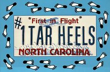 First in Flight # 1 Tar Heels North Carolina, Feet, License Plate, NC - Postcard