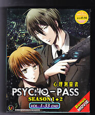 *NEW* PSYCHO PASS SEASONS 1&2 *33 EPS*ENG SUBS*ANIME DVD*US SELLER*FREE SHIPPING
