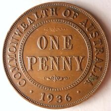 1936 AUSTRALIA PENNY - AU - HIGH VALUE COIN - Free Shipping - HV7