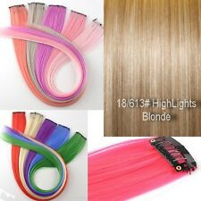 "1 Straks 22"" High Light Streaks CLIP IN HAIR EXTENSIONS Chose colours"