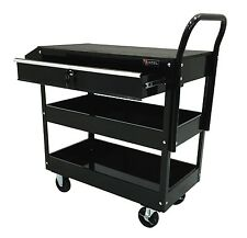 Excel TC301C-Black 36-Inch Steel Tool Cart, Black, Free Shipping, New