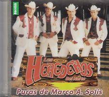 Los Herederos Del Norte Puras De Marco A Solis  CD New Nuevo
