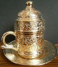 Tradizionale turca Caffè Tazza e piattino in colore oro
