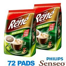 Philips Senseo 72 x Cafe Rene Cremé Mild Roast Coffee Pads Bags Pods