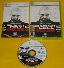 TOM CLANCY'S SPLINTER CELL DOUBLE AGENT XBOX 360 Vers Italiana 1ª Ediz ••• USATO