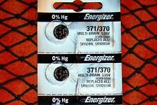 2 Pieces 371/370  Energizer Watch Batteries  FREE Shipping
