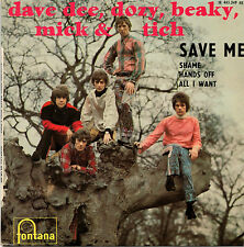 "DAVE DEE DOZY BEAKY MICK & TICH save me +3 7""EP 1966 FRANCE Beat Pop"