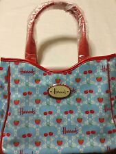 Harrods London Strawberry & Cherry Shoulder Shopper Tote Grab Bag!