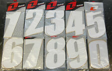 "PACK OF 3 MOTOCROSS RACE NUMBERS 7"" SUPERCROSS STYLE WHITE CRF KXF RMZ YZF CR YZ"