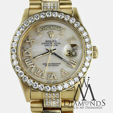 Presidential Rolex 18038 18k Yellow Gold White Roman Numeral Diamond Watch
