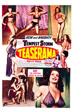 "Teaserama Bettie Page Tempest Storm Movie Poster  Replica 13x19"" Photo Print"