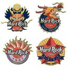 Hard Rock Cafe KOWLOON 1997 Unification Series 4 PIN Set #1 HRC Catalog #4170