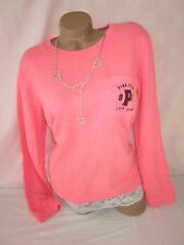 Victoria's Secret PiNK Sweatshirt Pullover Pocket Gym Crewneck L NWT
